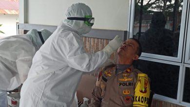 Photo of 10 Pejabat Utama Polres Tanjungpinang Jalani Tes Cepat Covid 19
