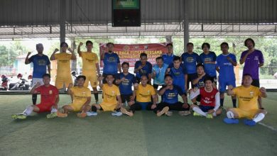 Photo of Tim Polres Tanjungpinang Ungguli Jurnalis di Laga Persahabatan Futsal